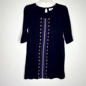 Old Navy embroidered 3/4 sleeve tunic- 10/12 Large